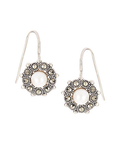 LORD & TAYLOR Faux Pearl Accented Earrings