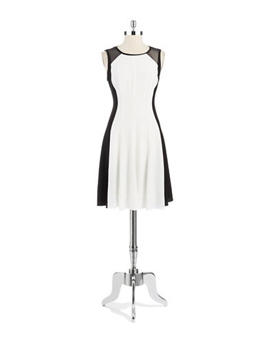 ELIE TAHARIPatti Mesh Accented Sheath Dress