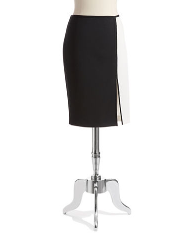 T. TAHARI Colorblock Pencil Skirt