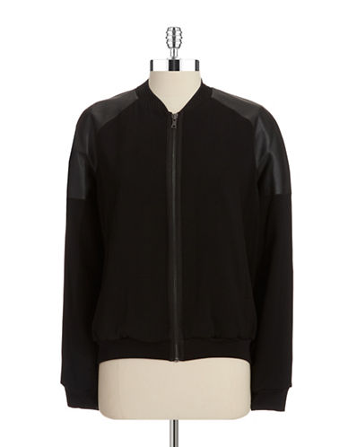 T. TAHARI Flynn Faux Leather Jacket