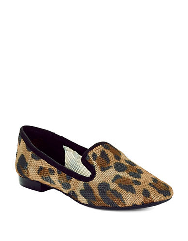 NINE WEST Lavalu Animal Print Smoking Slippers