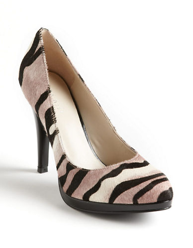 NINE WEST Rocha Leopard Print Leather Pumps