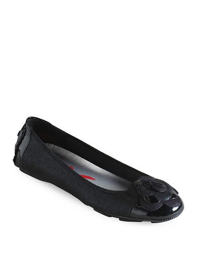 Buy Blondy Two-Tone Patent Leather Flats by Anne Klein online