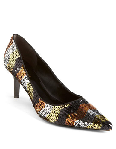 NINE WEST Austin Chevron Sequin Pumps
