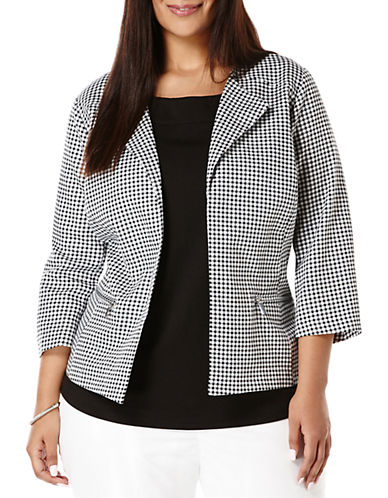 Rafaella Plus Plus Graphic Gingham Check Blazer