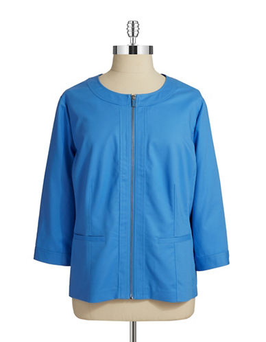 Rafaella Plus Plus Cotton Zip Up Jacket