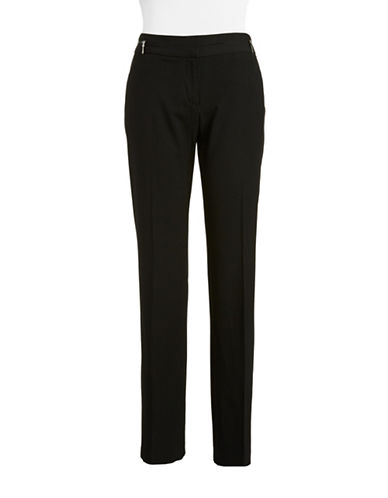 RAFAELLA Striped Straight-Leg Pants