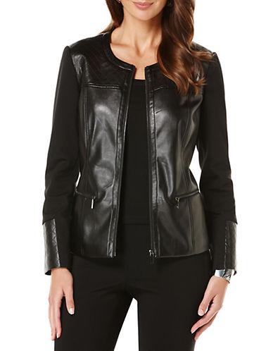 RAFAELLAFaux Leather Quilted Jacket
