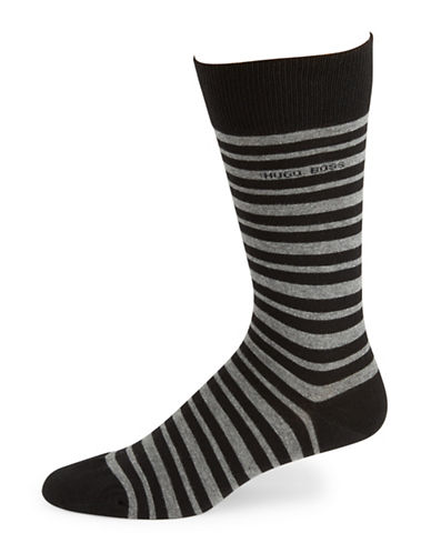 HUGO BOSS Striped Cotton Socks