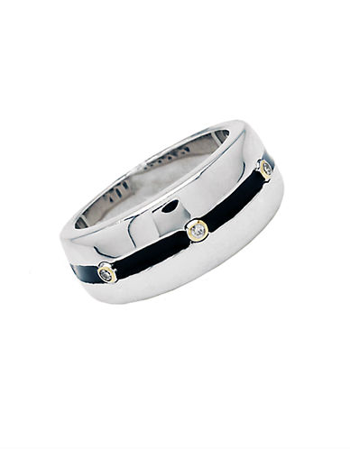 LORD & TAYLOR Men's Sterling Silver Diamond Accent Ring