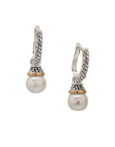 LORD & TAYLORSterling Silver and 14 Kt. Yellow Gold Freshwater Pearl Earrings