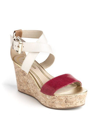 JUICY COUTUREForrest Leather Wedge Sandals