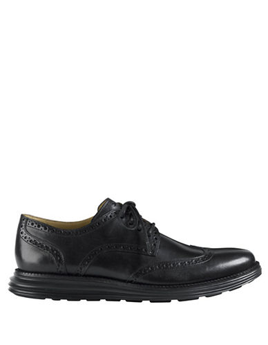 COLE HAAN LunarGrand Wingtip Leather Oxfords