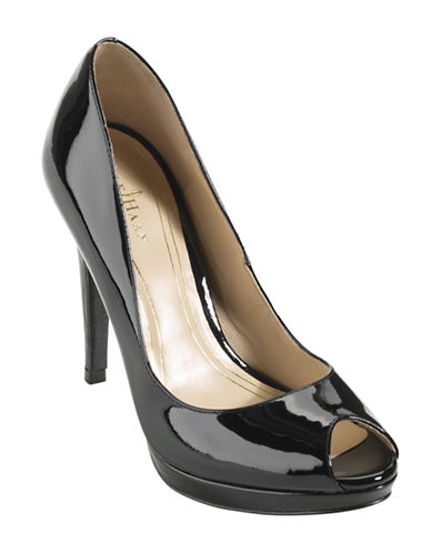 COLE HAAN Chelsea Patent Leather Open-Toe Pumps