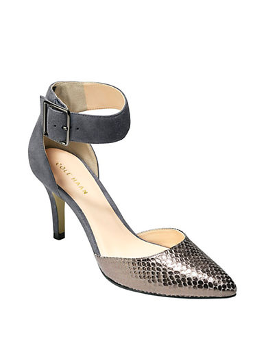 COLE HAANMemphis Suede and Leather Ankle Pumps