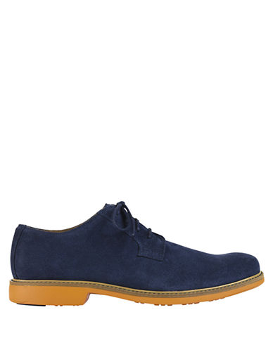 COLE HAAN Great Jones Suede Plain Toe Oxfords