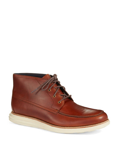 COLE HAAN Lunargrand Leather Moc Chukka Boot