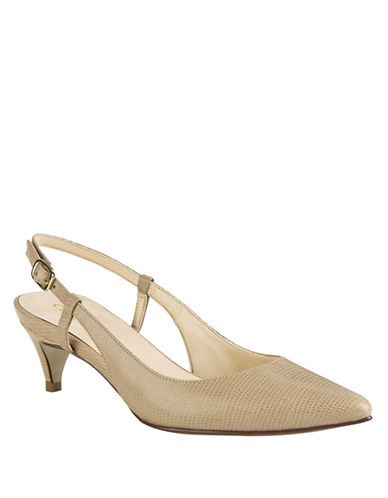 COLE HAAN Juliana Snake Embossed Pumps