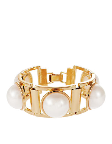 R.J. GRAZIANO Faux Pearl Decorated Bracelet
