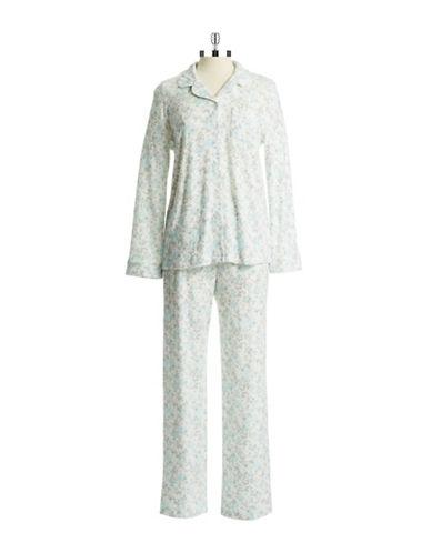 KAREN NEUBURGERTwo Piece Floral Pajama Set
