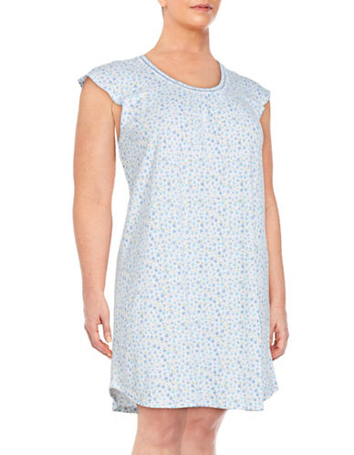Plus Floral Nightgown plus size,  plus size fashion plus size appare