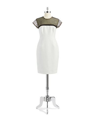 CARMEN MARC VALVODotted Sheath Dress