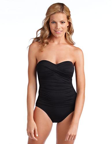 Shop La Blanca online and buy La Blanca Twist Bandeau One-Piece Swimsuit dress online