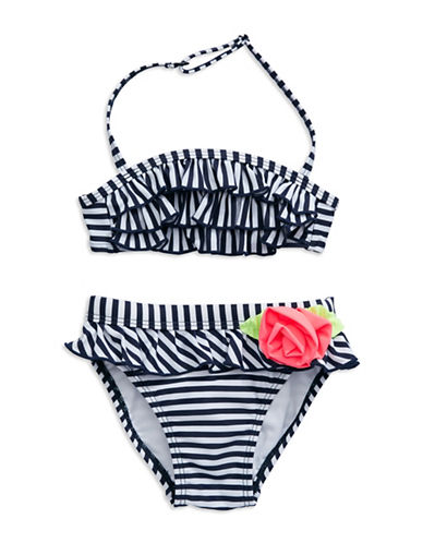 FLAPDOODLES Girls 2-6x Stripe Two-Piece Swimsuit