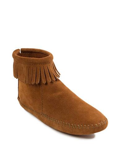 Back Zip Suede Boots