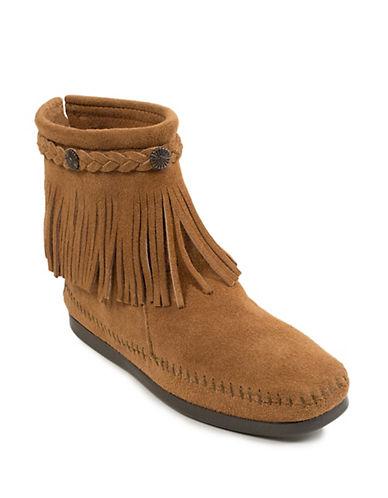 Hi-Top Back Zip Boots