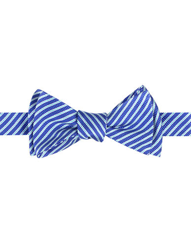 TED BAKER Thin Stripe Silk-Blend Bow Tie
