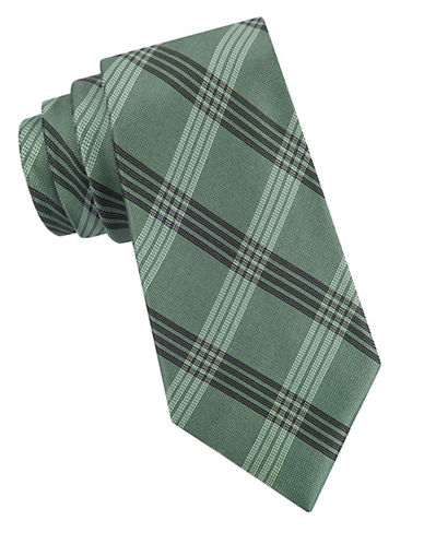 Plaid Silk Tie $19.50 AT vintagedancer.com