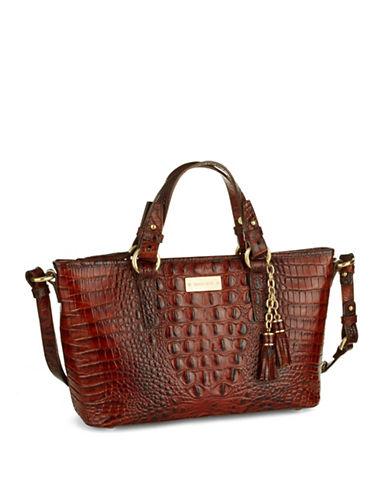 BRAHMINMini Asher Embossed Leather Satchel Bag
