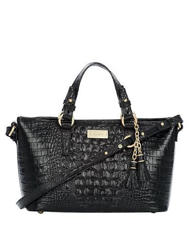 Brahmin Mini Asher Embossed Leather Satchel Bag
