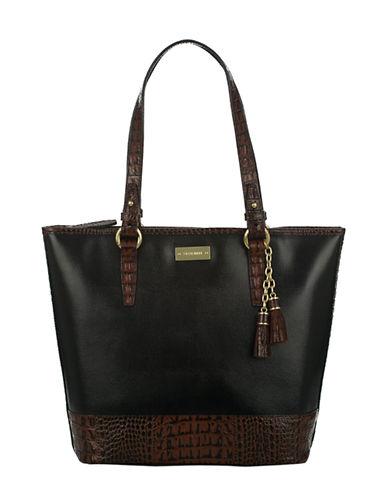 BRAHMINAsher Leather Bucket Tote Bag