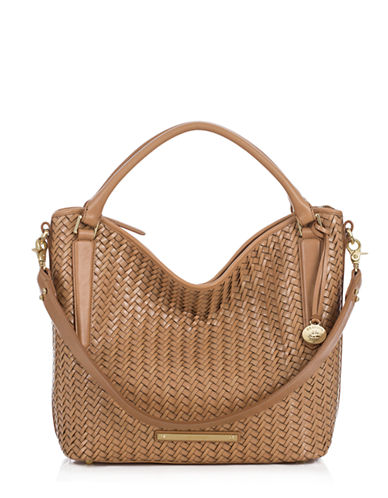 BRAHMIN Norah Leather Lattice Shoulder Bag