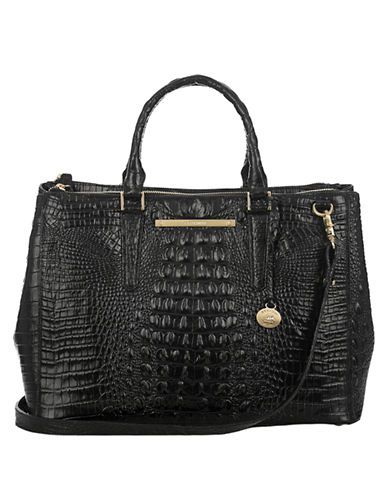 BRAHMIN Lincoln Embossed Leather Satchel