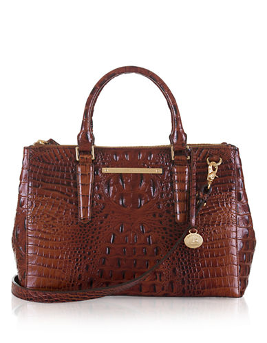 BRAHMIN Lincoln Embossed Leather Small Satchel