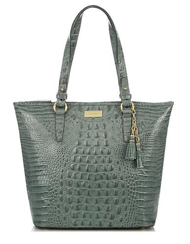 BRAHMINCroc Embossed Leather Shopper Tote Bag