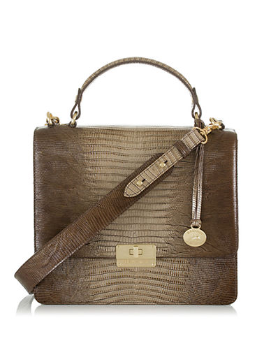BRAHMIN Cecelia Embossed Leather Satchel