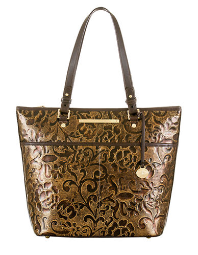 BRAHMIN Asher Embossed Leather Tote Bag