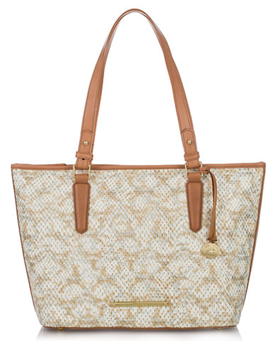 BRAHMIN Asher Embossed Leather Medium Tote