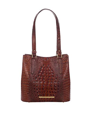 BRAHMINHudson Embossed Leather Bucket Bag