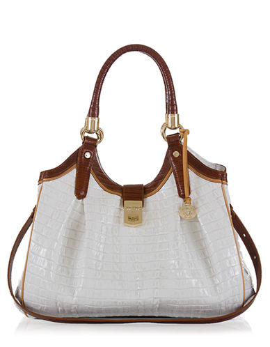 BRAHMIN Elisa Embossed Leather Tote