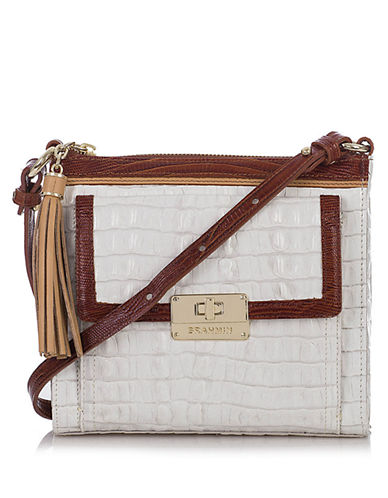 Brahmin Embossed Leather Crossbody Bag