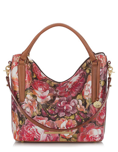 BRAHMIN Norah Floral Leather Tote