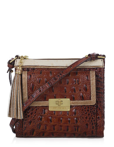 BRAHMIN Mimosa Leather Tri Texture Crossbody Bag