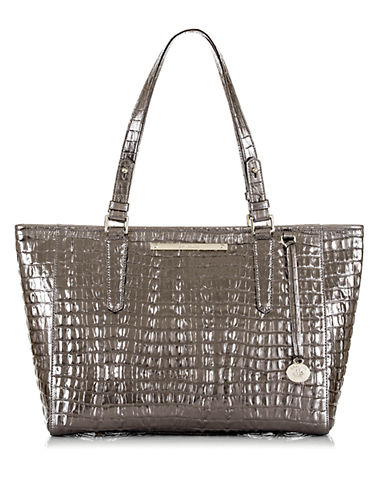 BRAHMIN Arno Embossed Leather Medium Tote Bag