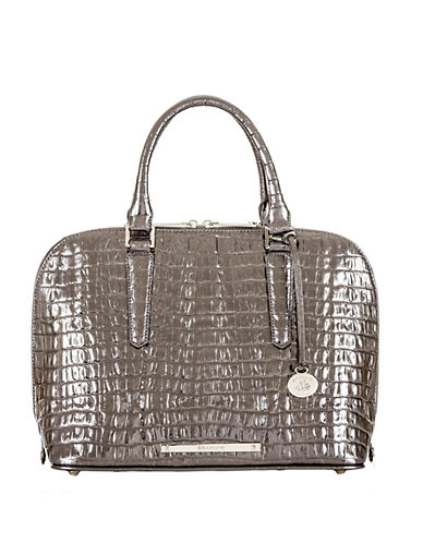 BRAHMIN Vivian Embossed Leather Satchel