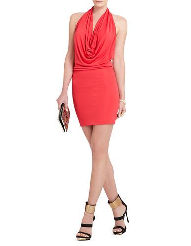 BCBGMAXAZRIAVeda Low-Back Cowl-Neck Dress